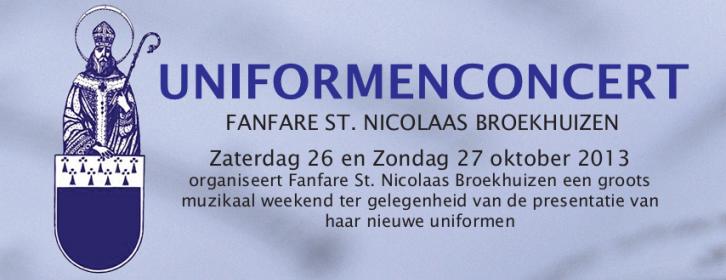 Flyer UniformenConcert, 26 en 27 Oktober 2013