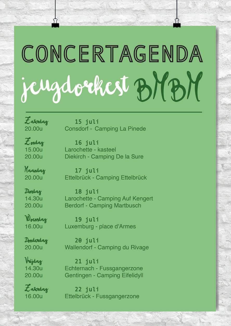 Concertreis jeugdorkest BMBM naar Luxemburg