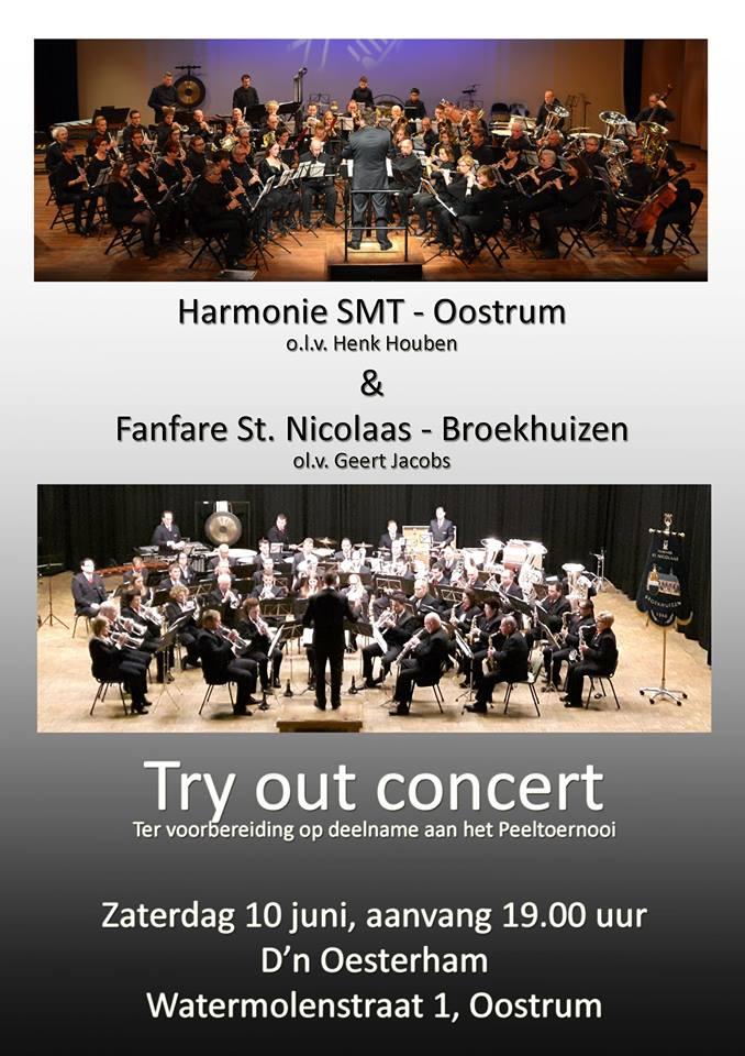 Concert Oostrum zaterdag 10 juni