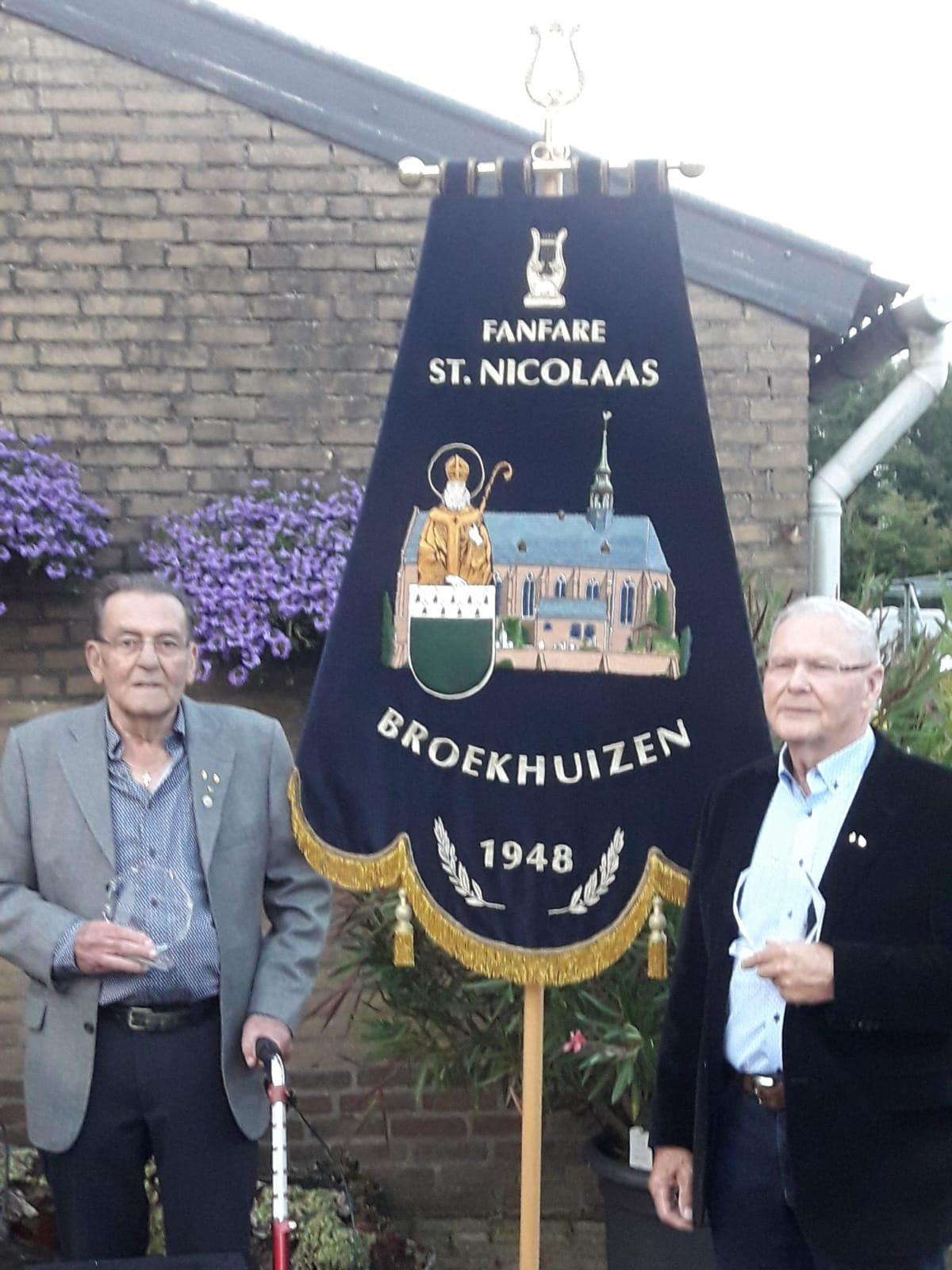 Jubilarissen Hay Coenders en Jan Vousten