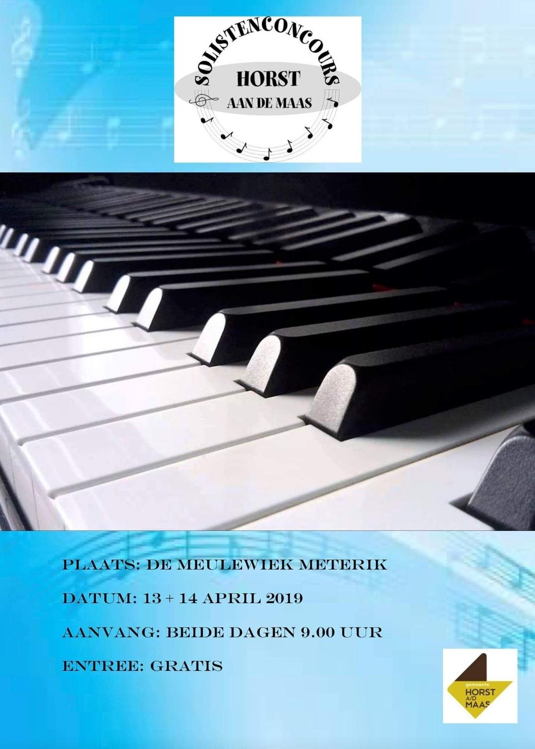 Uitslagen solistenconcours Horst aan de maas