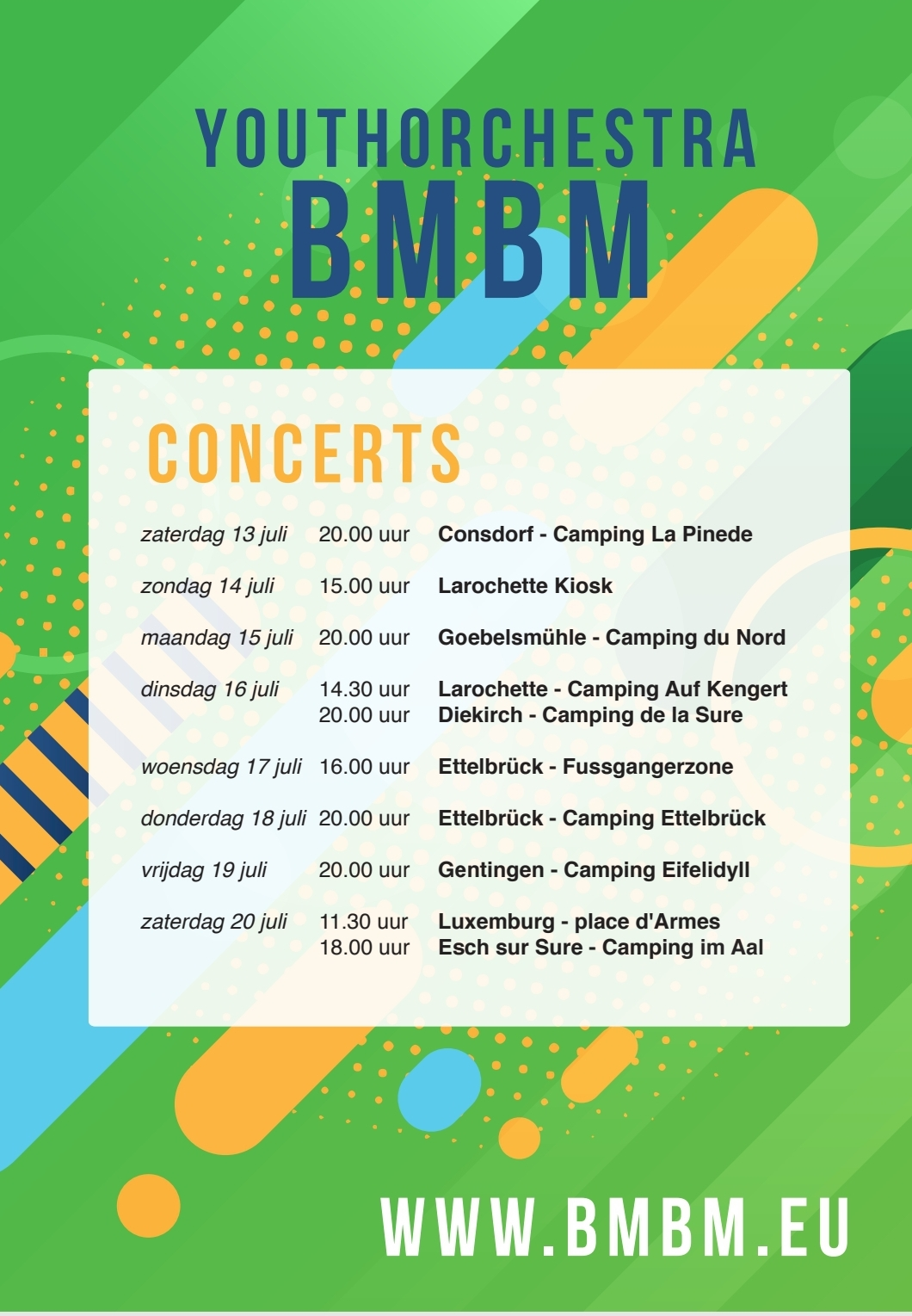 Programma concertreis Luxemburg